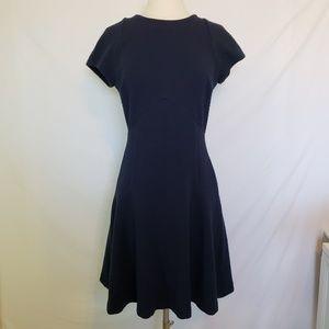 Banana Republic Navy Fit & Flare Dress Size 4